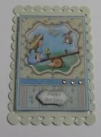 PK 2 HAPPY BIRTHDAY SEESAW FUN EMBELLISHMENT TOPPERS FOR CARDS