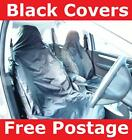 FRONT VAN SEAT COVERS BLACK FOR VAUXHALL ASTRA 2009 PAIR 1+1 WATER RESISTANT