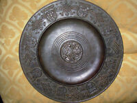 VINTAGE BRONZE PLATE PLAQUE 1948 RHINELAND GERMANY