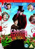 Charlie & The Chocolate Factory 2-Disc Edition Dvd Johnny Depp NEW SEALED FREEPO