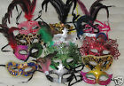 NEW MARDI GRAS masquerade party favor wedding decor MASKS LOT of 10 mask