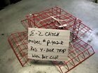 E-Z Catch Traps Saltwater Crabbing RED PVC Coated Four Door Crab Pots 6-Pk. USA