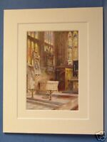 SHAKESPEARE MEMORIAL AND TOMB VINTAGE DOUBLE MOUNTED HASLEHUST PRINT c1920 10X8
