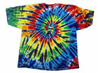 Black Rainbow Spiral Tie Dye Adult/Youth T-shirt