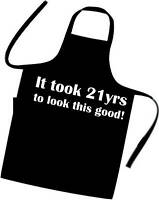 21st BIRTHDAY Apron EXCELLENT GIFT IDEA Cooks / Chefs / BBQ cooking apron NEW
