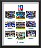 Glasgow Rangers FC Framed Print 9 in a row Celebration