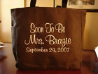 TOTE Bag BROWN SCHOOL WORK OFFICE BRIDESMAIDS WEDDING BRIDAL PARTY SHOWER
