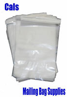 25 x A4 PERMANENT CLEAR TRANSPARENT MAILING BAGS