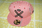 10 DEEP X LOGO GINGHAM RED NEW ERA FITTED HAT crooks