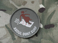 'Abdul Dont Surf', Airborne Forces Morale Patch, velcro backed.