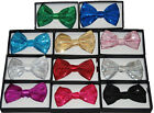 Unisex Sequin Tuxedo Dress Bowtie 11 Colors New Style