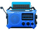 New Katio KA500 AM FM Shortwave Solar Crank Emergency Radio NOAA - Blue