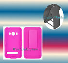 Belt Clip Holster w/Kick Stand Pink/Pink HTC EVO 4G A9292 Grip Cover Hard Case