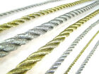 Quality Cord Metallic Gold Silver Rope Piping Lacing String Sold By Meter
