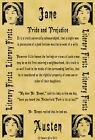 A4 Parchment Poster Literary First Lines Jane Austen Pride and Prejudice