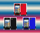 Balck+Red+Blue LG Ignite AS855 LGAS855 Faceplate Snap-on Phone Cover Hard Case