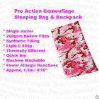 Pro Action Single Junior 200GSM Sleeping Bag/Backpack Combo in Camouflage Pink