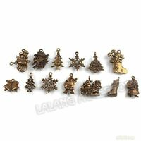 42x 141368 Assorted Bronze Christmas Series Alloy Charms Pendant  Free Ship