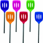 TOVOLO Silicone Stainless Steel Slotted Turner - NEW - 6 Assorted Colors