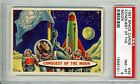 1957 Topps Space Cards #36 Conquest Of The Moon PSA 8 NM-MT