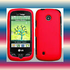 Red LG Cosmos Touch VN270 Faceplate Snap-on Phone Cover Hard Shell Case Skin