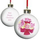 Personalised Pink Angel Christmas Tree Bauble Xmas Decoration Gift - P030523