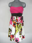 NWT Juniors TEEZE ME White Pink Brown Floral Print Strapless Casual Dress $69