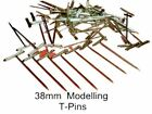 T-PINS 38mm LONG FOR MODELLING & CRAFTS x 50 PINS.
