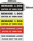 BEWARE OF THE DOG SIGN ENTER AT YOUR OWN RISK PLEASE SHUT THE GATE WARNING SIGN