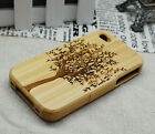 Genuine Tree Natural Real Bamboo Wood Wooden Hard Cover Case for i phone 4 4G 4S