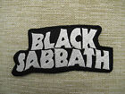 Black Sabbath White Iron On/Sew On Patch Emo Goth Punk Rock