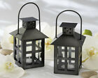 48 Luminous Black Mini Lantern Tea Light Holder Wedding Favors Table Decor