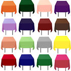 "20 Pack 72"" x 72"" Square Tablecloths Overlays 23 Colors 100% Polyester Wedding"