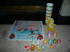 21pc Lot of Care Bear Miniatures and Collectables Play Doh Mats Cups Minis