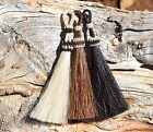 100% Natural Horsehair Bridle Tassels with Sliding Knot - Natural Colors - 3