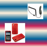 Car Charger+y.Marble Red LG Optimus BLACK B P970G P970H P970N Phone Cover Case