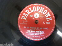 78 rpm THE KING BROTHERS rockin shoes / in the middle of an island