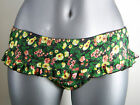 NWT Juniors GUESS Coral & Yellow Floral on Black Skirted Bikini BOTTOM ONLY $47
