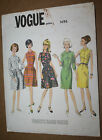 1960s VINTAGE SEWING PATTERN VOGUE 1696 BASIC 1-PC DRESS SIZE 12 BUST 32 HIP 34