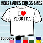I LOVE HEART FLORIDA USA T-SHIRT ALL SIZES & COLOURS