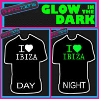 I LOVE IBIZA MUSIC DJ FESTIVAL IBIZA GLOW IN THE DARK PRINTED TSHIRT