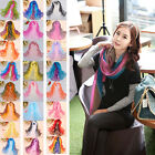 Women's Fashion Gradient Wrap lady Shawl Stole Silk Chiffon Scarf
