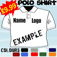 PERSONALISED TOP WORK WEAR EMBROIDERED T POLO SHIRT