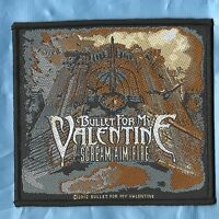 BULLET FOR MY VALENTINE FEVER . SCREAM AIM FIRE . GOTH HEAVY METAL PATCH