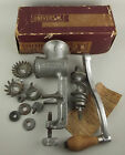 Vintage Universal Food Meat Chopper #1 Complete in Box Metal Landers Frary Clark