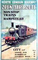 Vintage North London Railway Poster A3 / A2  Reprint