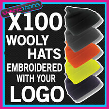X100 WOOLY HATS PERSONALISED WITH YOUR OWN LOGO / TEXT BUSINESS WORKWEAR