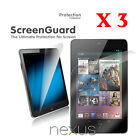 3 X Ultra Clear Screen Protector for Google Nexus 7