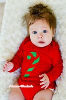 Xmas Infant Baby Optional Color Long Sleeve Jumpsuit Candy Stick Romper NB-12M