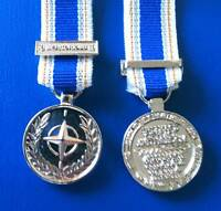 MEDALS - NATO MERITORIOUS SERVICE MEDAL -  MINIATURE